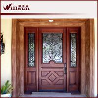 Guangzhou Wood Iron Doors front main door design