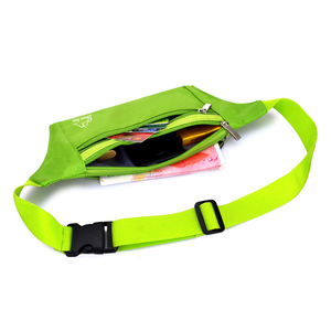 wholesale custom print logo nylon waterproof dry outdoor sports waist pack leather running gym fitness blue waist belt with bag