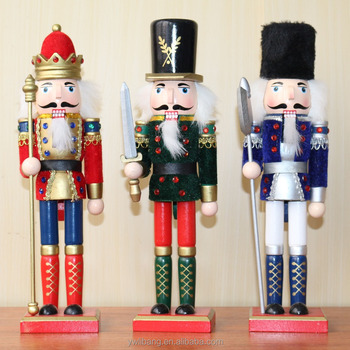 wholesale toy soldier christmas decoration traditional wooden nutcracker soldiers