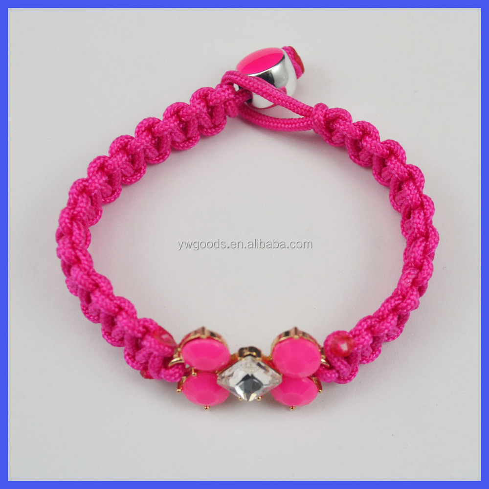 25mm Thickness Polyester Cord & Charms Friendship Bracelet Making Diy Kit