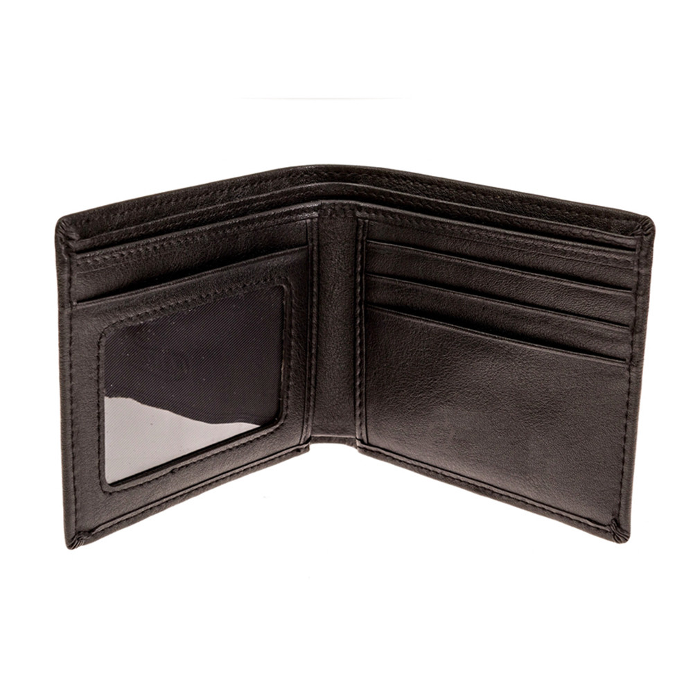 Bifold Leather Wallet Can Block RF Signals to Protect card information wallet