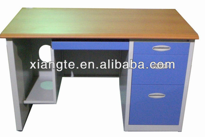 3 Drawer Office Desks Furniture Metal Computer Tables Steel Desk With Pedestal Table