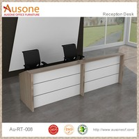 Maple and White Office Front Counter Design