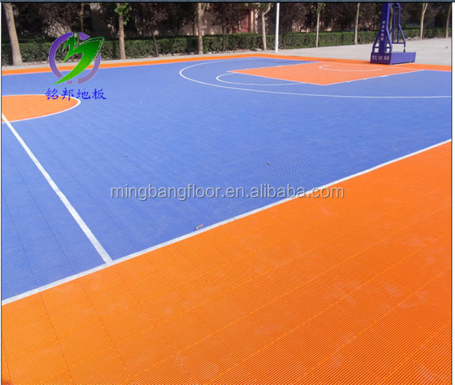 Professional Manufacturer PP interlocking sports flooring for outdoor basketball court sports flooring pp plastic floor