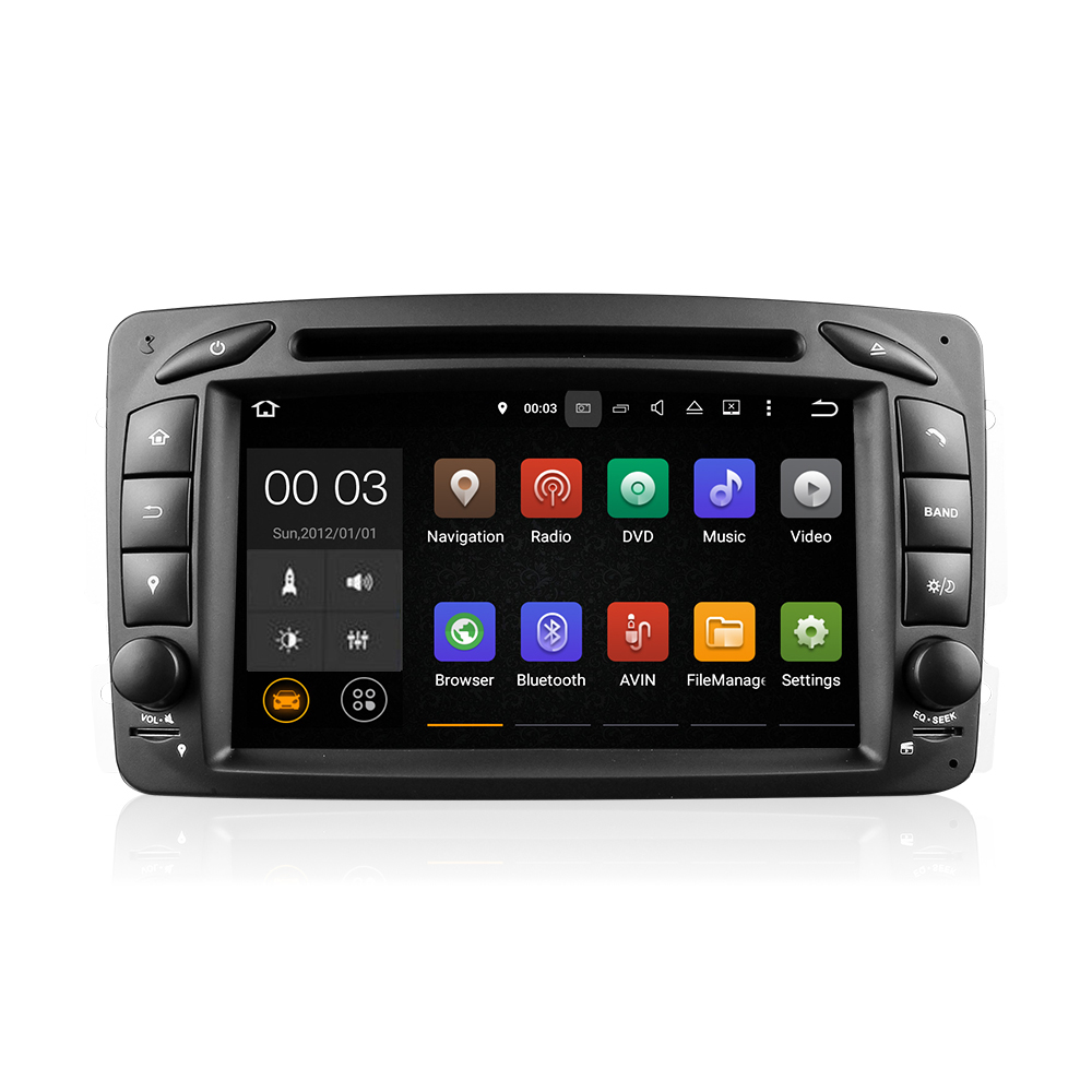 Winmark <strong>Android</strong> 5.1 Car DVD GPS Player For Mercedes-Benz M/ML-Class W163 A-Class W168 Viano & Vito W639 G-Class W463 DU7063