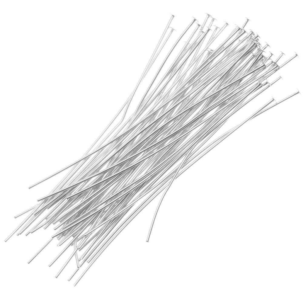 Silver 3//4-Inch 24-Gauge 20-Piece Sterling Head Pins