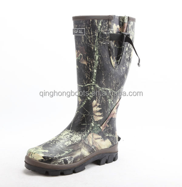 neoprene or cotton lining camouflage camo rubber hunting boots