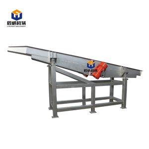 China stainless steel food grade vibrating feeder conveyor