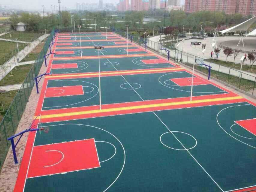 Good Outdoor Basketball Court PP Interlocking Tiles With Good Drainage System