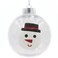 Popular durable clear plastic ball christmas ornaments