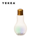 500ml Empty Bpa Free Plastic Clear Bulb Shaped Glass Water Bottle With Straw For Drinking