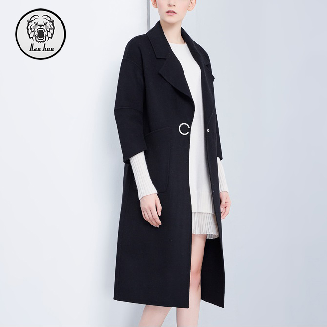 Winter Clothes 2018 Ladies Fashion Long Style Tassel Trim Wool Jackets