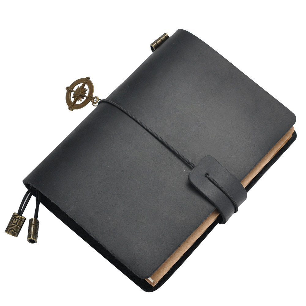Eavann Handy Leather Notebook, Handmade Classic Vintage style, Passport Size with Refillable Pages