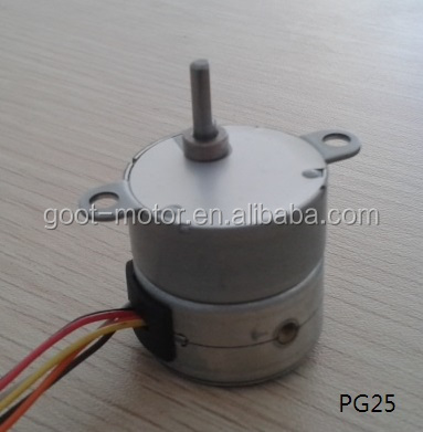 12 V 80 Ohm 2 Phase 4 Wire Stepper Gear Motor(25mm, 35mm, 42mm)