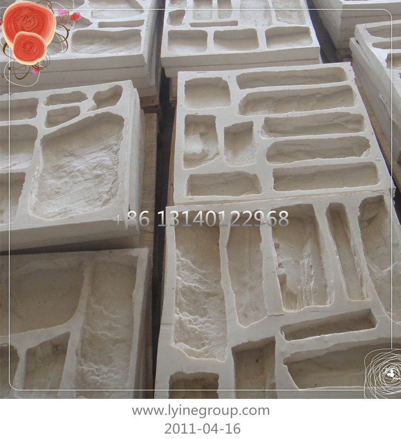 Polyurethane and silicone molds. Artificial stone veneer (LEDGE STONE). Production technologies from Gypsum or concrete.