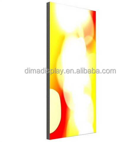 DM frameless lightbox,aluminium profile for led screen,standing display