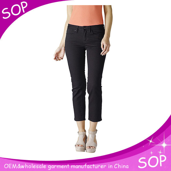 Best stretched 7/8 length legging carbon jeans in china supplier
