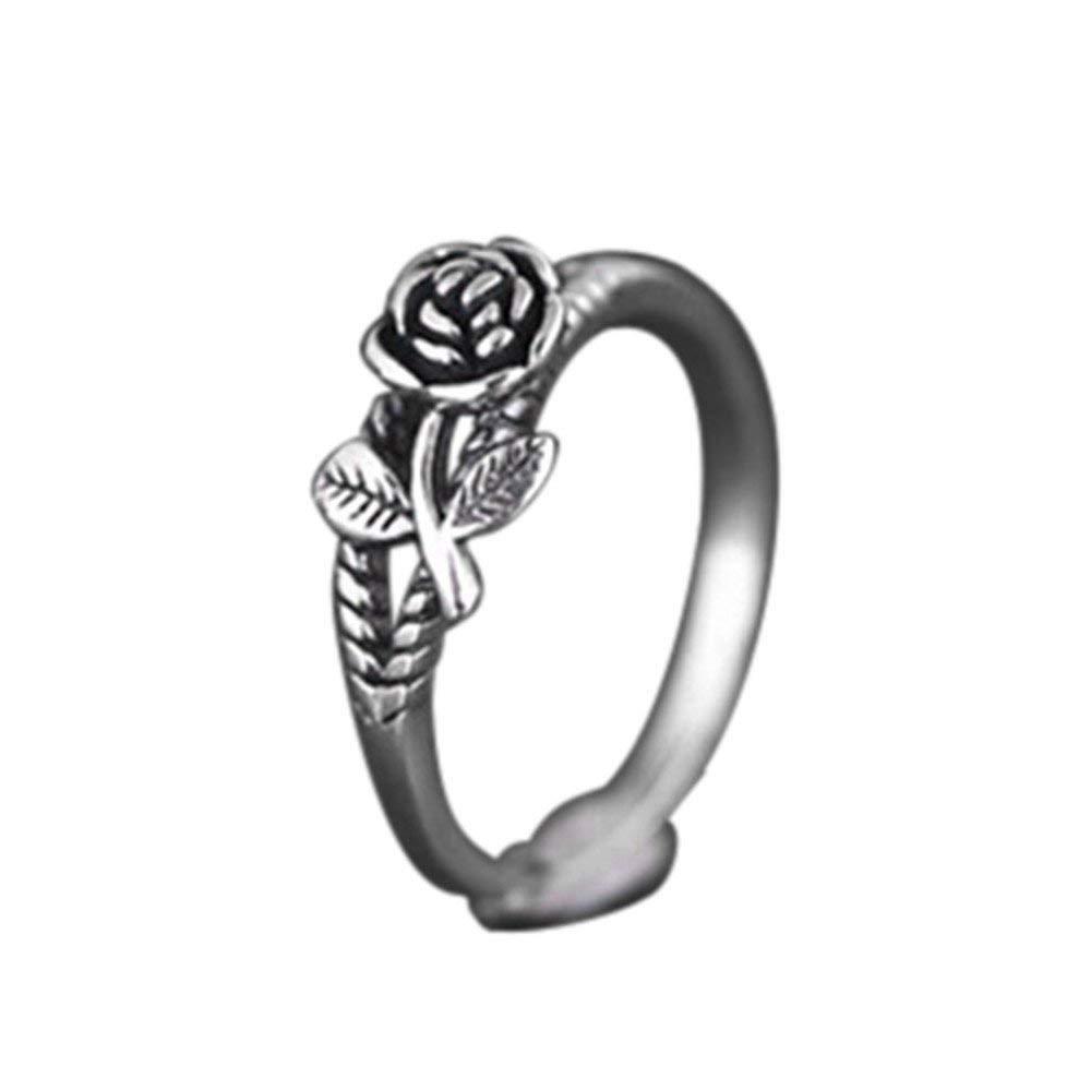 Clearance Ring, Hoshell Fashion Elegant Creative Rose Ring Retro Ring Wedding Party Women Jewelry (9)
