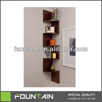 Esquina estantería zig zag pared estante de la pared estante para libros d5ca78868237