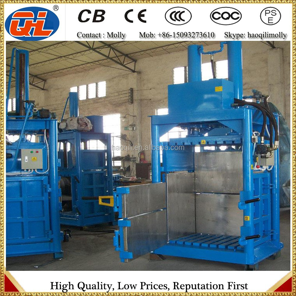 hydraulic press waste paper bailer machines