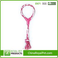 HOT SELLING 17 inch TPR WITH COTTON ROPE DOG TOY