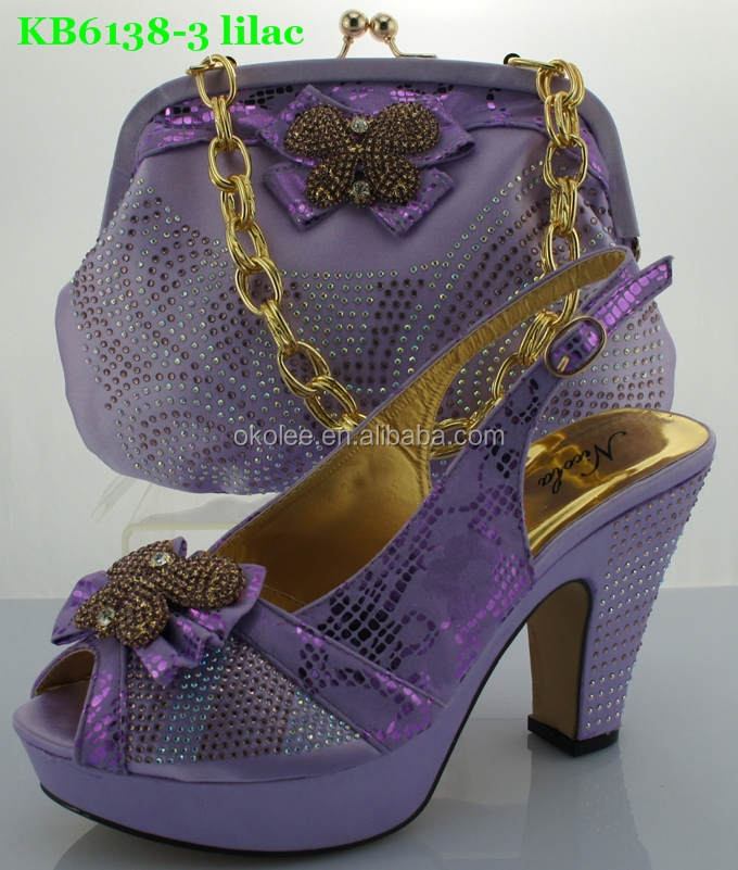 0b70bbd12f Italian Party Shoes And Bags Lilac Color 2015 - Buy Italian Party ...