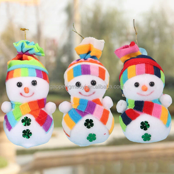 new design wholesale christmas snowman doll color hat foam christmas snowman christmas decorations
