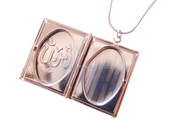 Silver Picture Frame Locket Necklace