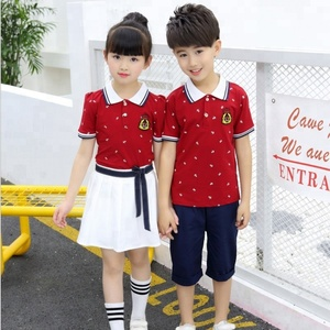 Customized Wholesale Primary School Uniform China Factory Direct Design Production Children Uniform Quality Fabric