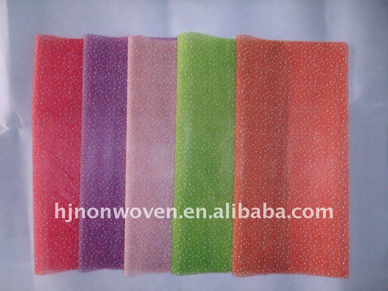 Colorful fresh flower wrapping paper non-woven fabrics/gift wrapping non-wovens decoration.
