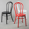 High quality stackbale iron cafe chair