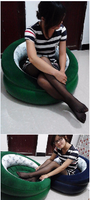 Inflatable sofa stool round beanbag chair Home Furniture