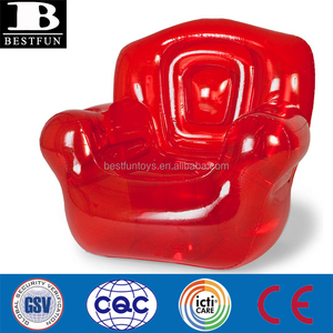Extra thick Transparent outdoor indoor STURDY heavy-duty PVC inflatable chair furniture for adults single sofa chair