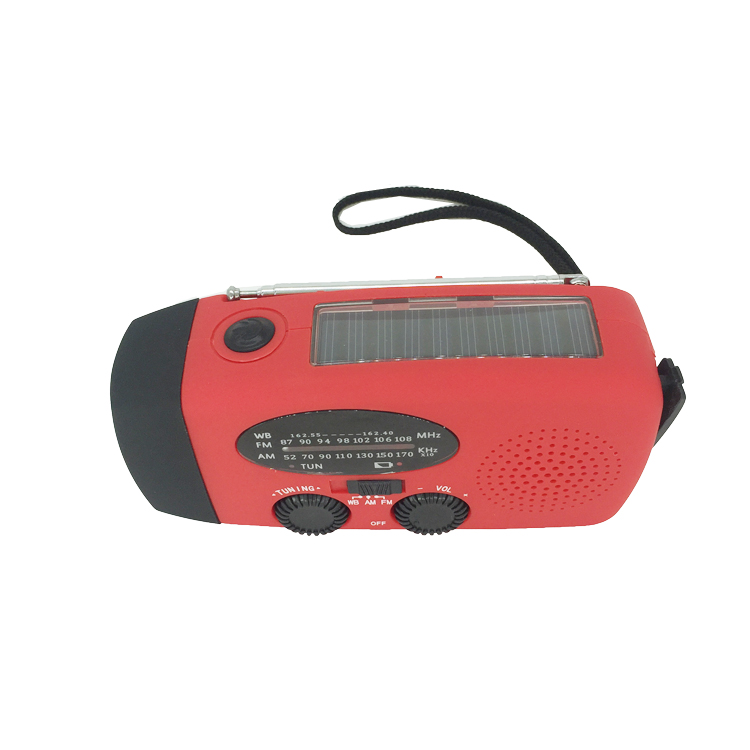 Hand crank solar power 3 bands emergency NOAA radio