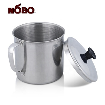 Wholesale custom logo coffee stainless steel cup with handles