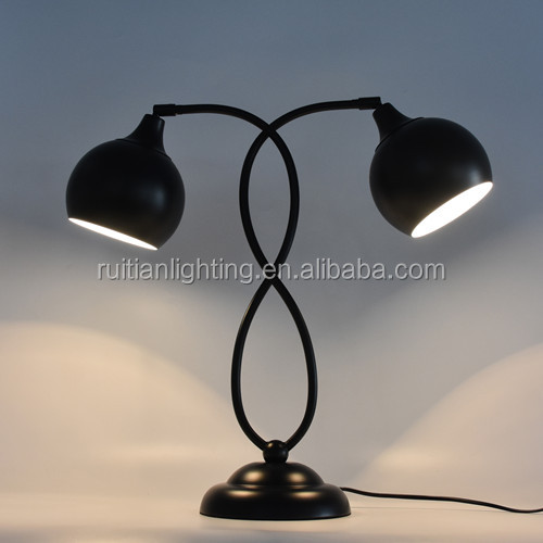 Bedroom Lamp Sets Double 2lights Black Color Shades - Buy Buy Lamps  Online,Tall Bedside Lamps,Table With Built In Lamp Product on Alibaba.com