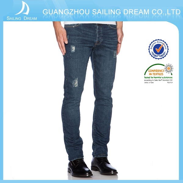 100% cotton jeans men slim fit ripped denim jeans pants 18 boy jeans fashion men's clothing summer trousers