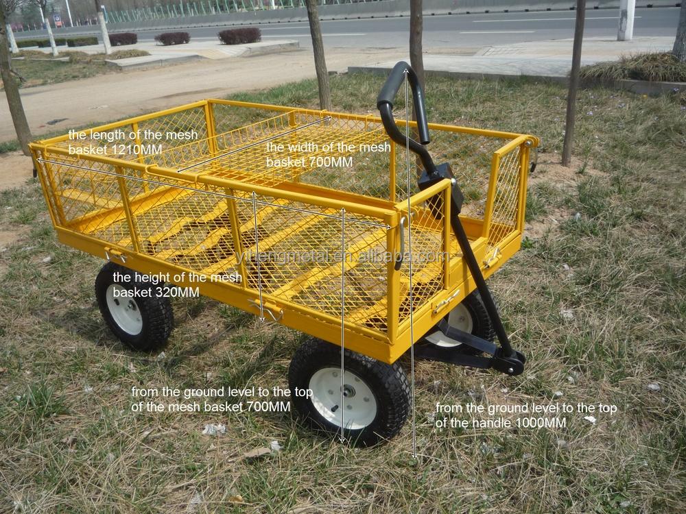 Awesome Wagon Garden Cart Nursery Trailer Heavy Duty Cart TC4205E