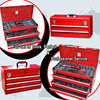 two drawers stainless steel tool box Iron portable tool box