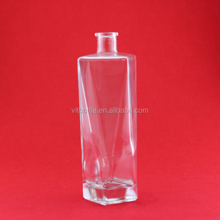 Excellent Vodka Brand Custom Made Glass Bottle Gin Glass Bottle ...