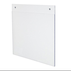 Factory direct acrylic wall mount magnize holder door sign holder plastic a4 clear file folder document holder
