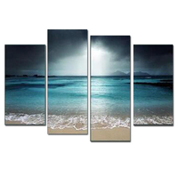 4 panels/sets Custom printed colorful canvas art wall printing for living room