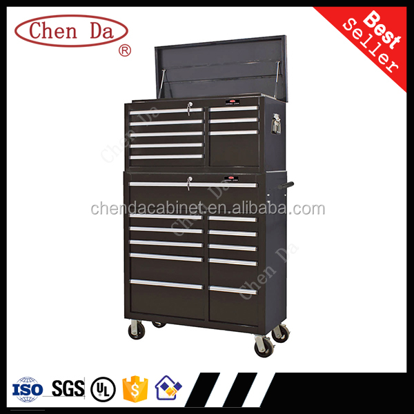 Professional heavy duty roller tool box/tool cabinet in black