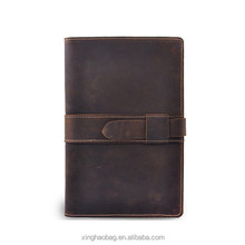 Donkerbruin Lederen <span class=keywords><strong>Portfolio</strong></span> <span class=keywords><strong>A5</strong></span> Pad Holder Document Case