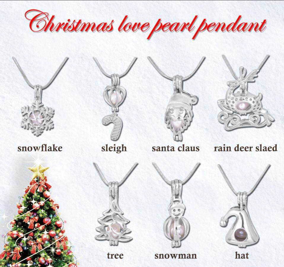 new christmas hot sale pearl / bead pendant cage,locket