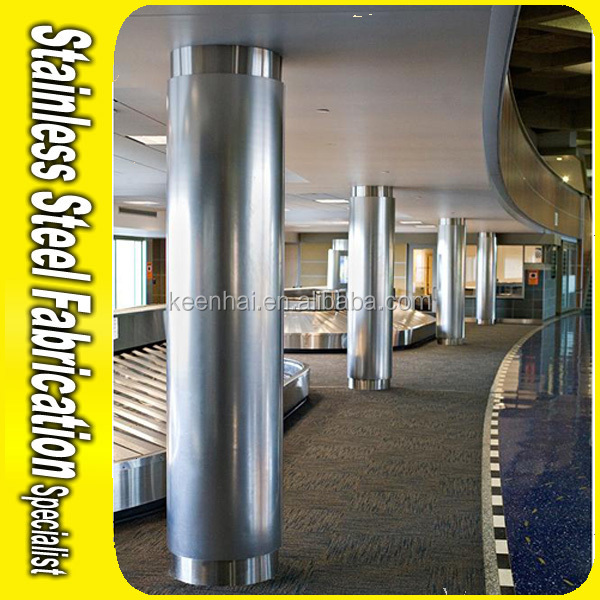 Metal Building Pillar : Customed size stainless steel pillar cladding for building