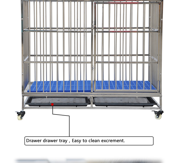 High quality large size metal stainless steel dog cage for pet