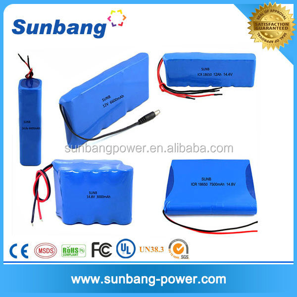 Customized Rechargeable 10v li ion battery pack