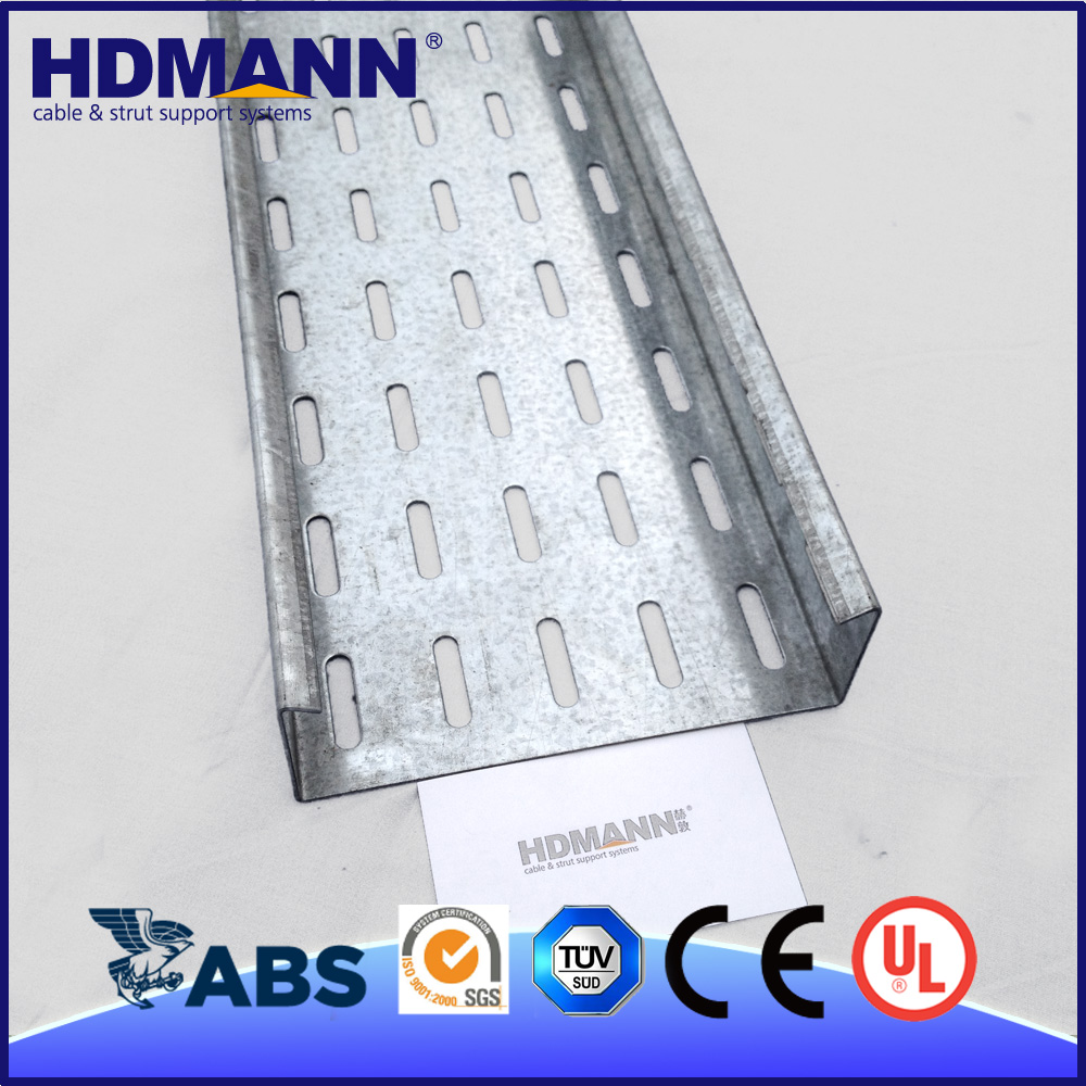 Easy Installation Strong Electrical Support System Aluminium Perforated Cable Tray