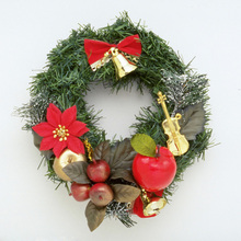 wholesale best outdoor artificial christmas decorations flowers christmas wreath for wall door decoration